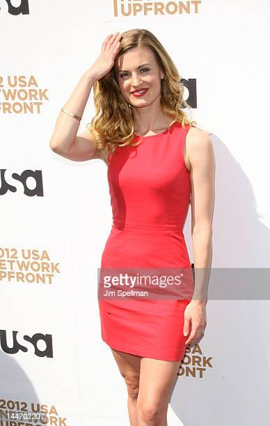 Actress Brooke D'Orsay attends the 2012 USA Network Upfront at Alice Tully Hall on May 17 2012 in New York City