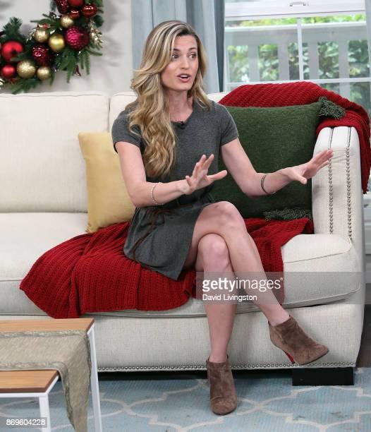 Actress Brooke D'Orsay visits Hallmark's Home Family at Universal Studios Hollywood on November 2 2017 in Universal City California