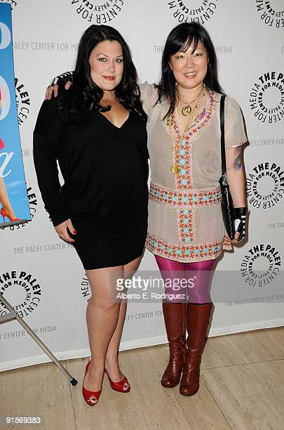 Actress Brooke Elliott and actress Margaret Cho arrive at the Drop Dead Diva Season One Finale held at the Paley Center for Media on October 7 2009...