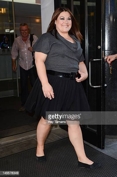 Actress Brooke Elliott leaves the Good Day New York taping at the Fox 5 Studios on June 1 2012 in New York City