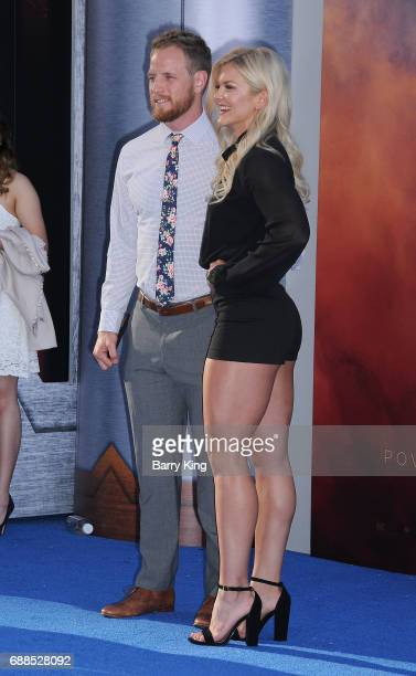 Actress Brooke Ence and guest attend the World Premiere of Warner Bros. Pictures' 'Wonder Woman' at the Pantages Theatre on May 25, 2017 in...