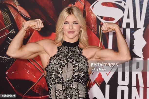 Actress Brooke Ence arrives at the premiere of Warner Bros. Pictures' 'Justice League' at the Dolby Theatre on November 13, 2017 in Hollywood,...