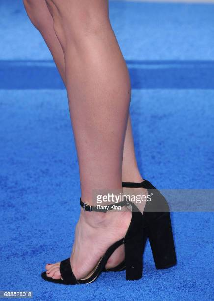 Actress Brooke Ence, shoe detail, attends the World Premiere of Warner Bros. Pictures' 'Wonder Woman' at the Pantages Theatre on May 25, 2017 in...