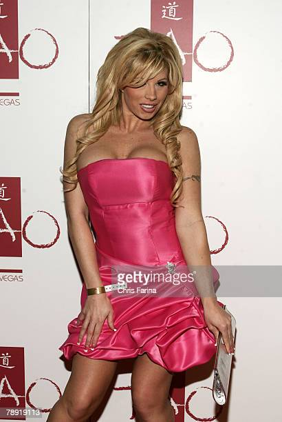 Actress Brooke Haven arrives at a naughty night to remember at TAO Nightclub at The Venetian Hotel and Casino Resort on January 12 2008 in Las Vegas...
