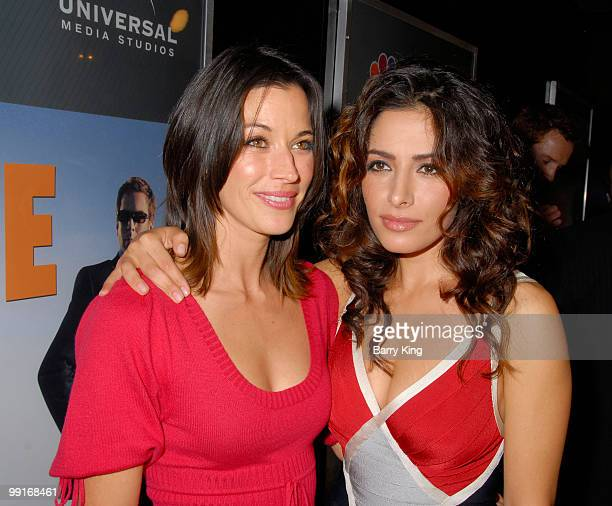 Actress Brooke Langton and actress Sarah Shahi attend the NBC and Venice Magazine party for new series Life held at Celadon on September 26 2007 in...