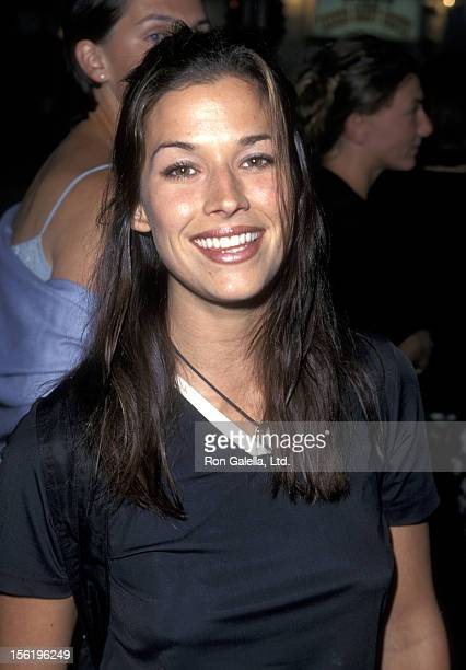 Actress Brooke Langton attending the premiere of 'Excess Baggage' on August 25 1997 at Mann Village Theater in Westwood California