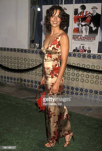 Actress Brooke Langton attending the premiere of 'The Replacements' on August 7 2000 at Mann Village Theater in Westwood California