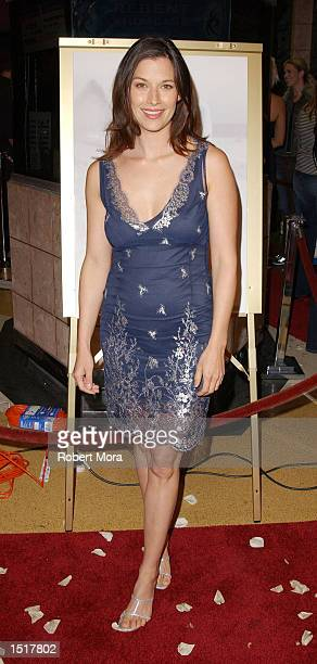 Actress Brooke Langton attends the Los Angeles premiere of Kiss the Bride at the Showcase Regent Theatre on October 23 2002 in Los Angeles California