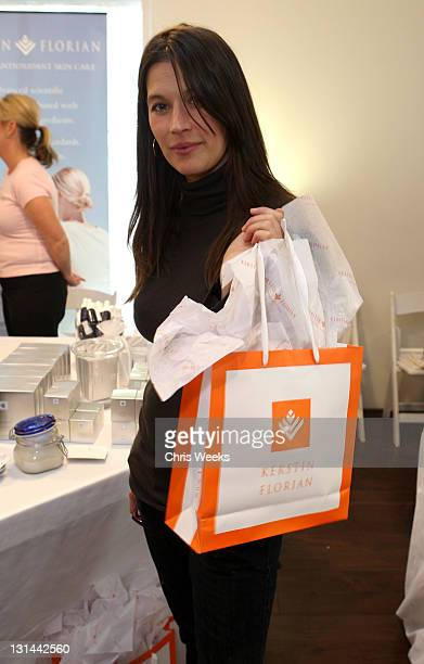 Actress Brooke Langton poses at Kari Feinstein Golden Globes Style Lounge held at Zune LA on January 9 2009 in Los Angeles California