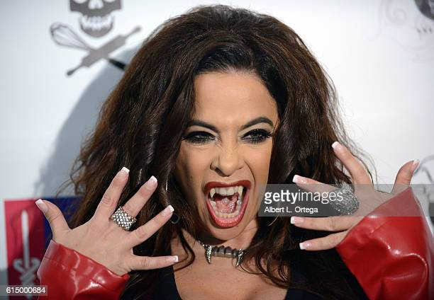 Actress Brooke Lewis attends the Hallowe'en Hotness In 3D Heroes And Villains held at The Reserve on October 15 2016 in Los Angeles California