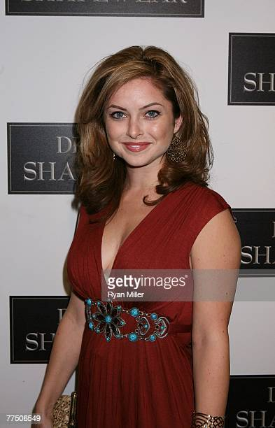 Actress Brooke Lyons arrives at the launch party for Dr Robert Rey's Shapewear hosted by Carmen Electra and Denise Richards held at Hollywood hot...