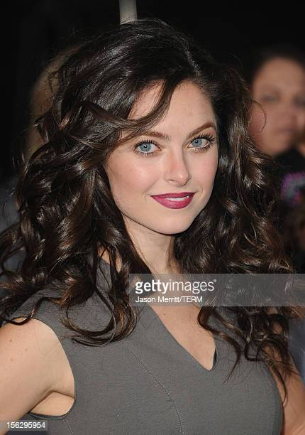 Actress Brooke Lyons arrives at the premiere of Summit Entertainment's The Twilight Saga Breaking Dawn Part 2 at Nokia Theatre LA Live on November 12...