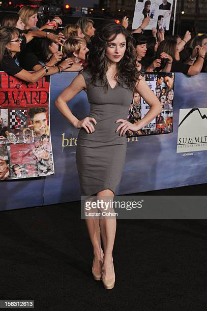 Actress Brooke Lyons arrives at The Twilight Saga Breaking Dawn Part 2 Los Angeles premiere at the Nokia Theatre LA Live on November 12 2012 in Los...