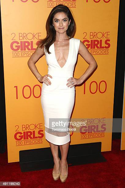 Actress Brooke Lyons attends the 100th episode celebration of CBS' 2 Broke Girls held at Mrs Fish on October 3 2015 in Los Angeles California