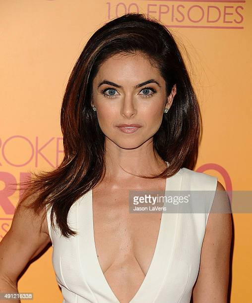 Actress Brooke Lyons attends the 100th episode celebration of CBS' 2 Broke Girls at Mrs Fish on October 3 2015 in Los Angeles California