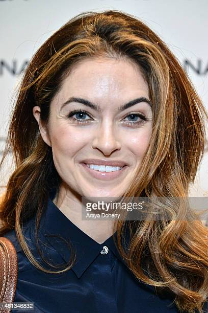 Actress Brooke Lyons attends the HBO Luxury Lounge featuring PANDORA Jewelry at Four Seasons Hotel Los Angeles at Beverly Hills on January 11 2015 in...