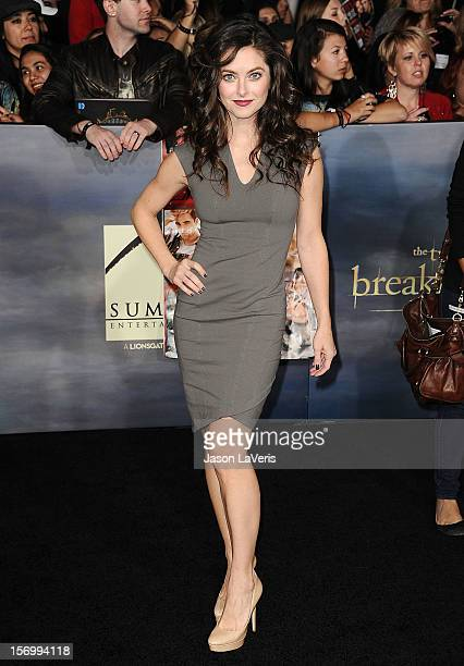 Actress Brooke Lyons attends the premiere of The Twilight Saga Breaking Dawn Part 2 at Nokia Theatre LA Live on November 12 2012 in Los Angeles...