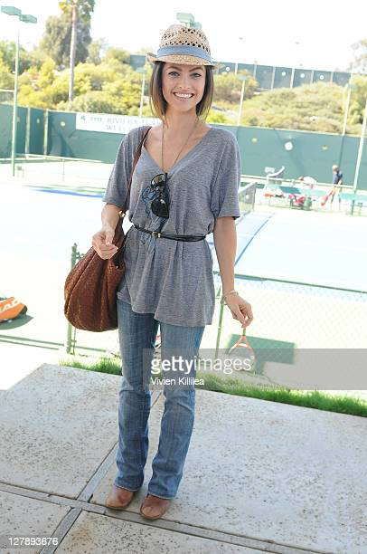 Actress Brooke Lyons attends the WME Tennis Classic Celebrity Tennis Event Benefiting Bogart Pediatric Cancer Research Program at Riviera Country...