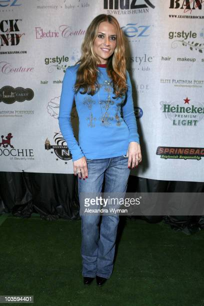 Actress Brooke Mueller attends The Retreat Premier Gift Lounge At Super Bowl XLII held at Galleria Corporate Centre on February 1 2008 in Scottsdale...