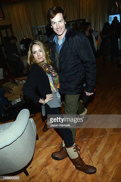 Actress Brooke Nevin and actor Rob Huebel attend Day 3 of UGG at Village At The Lift 2013 on January 20 2013 in Park City Utah