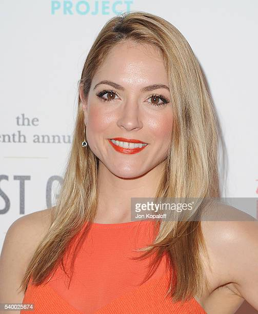 Actress Brooke Nevin arrives at the 7th Annual Thirst Gala at The Beverly Hilton Hotel on June 13 2016 in Beverly Hills California