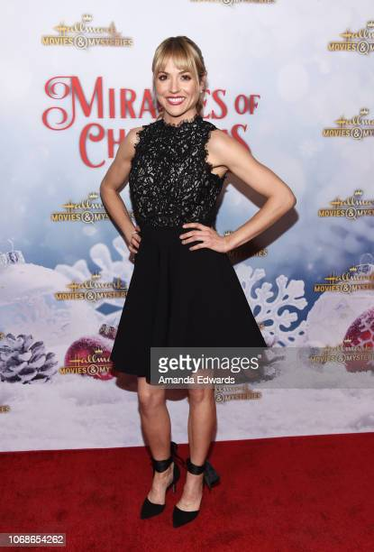 Actress Brooke Nevin arrives at the Hallmark Channel 'Once Upon A Christmas Miracle' screening and holiday party at 189 by Dominique Ansel on...