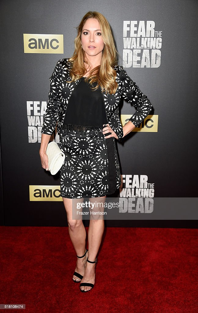 actress brooke nevin arrives at the premiere of amc 39 s 39 fear the nachrichtenfoto getty images. Black Bedroom Furniture Sets. Home Design Ideas