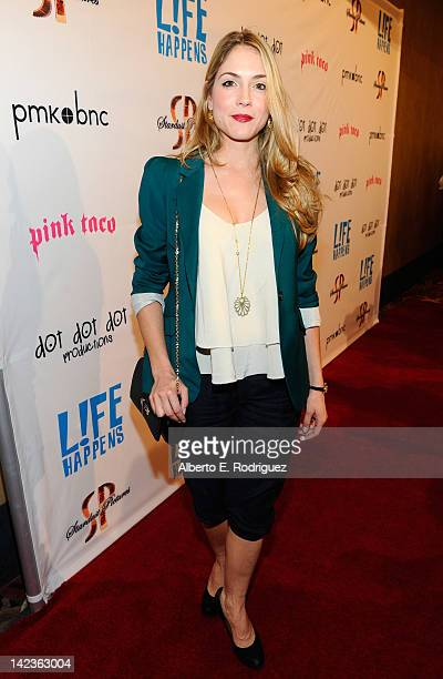 Actress Brooke Nevin arrives to the premiere of Lfe Happens at AMC Century City 15 theaters on April 2 2012 in Century City California
