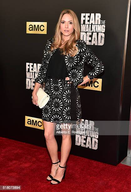Actress Brooke Nevin attends the premiere of AMC's Fear The Walking Dead Season 2 at Cinemark Playa Vista on March 29 2016 in Los Angeles California