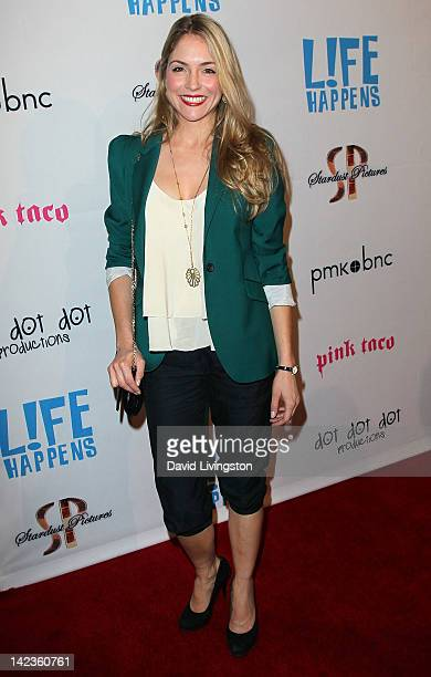 Actress Brooke Nevin attends the premiere of Lfe Happens at AMC Century City 15 theater on April 2 2012 in Century City California