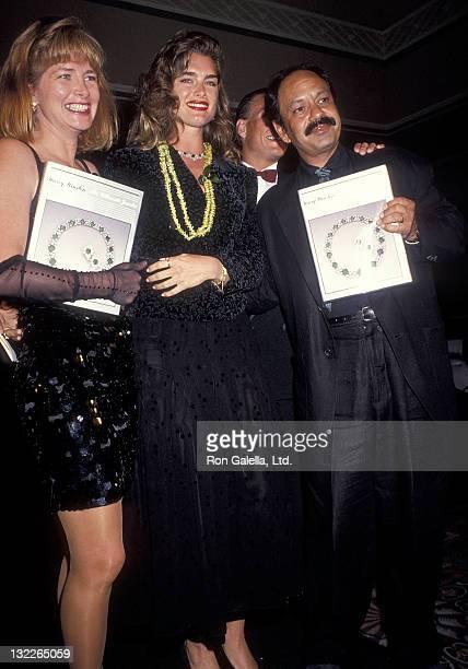 Actress Brooke Shields actor Cheech Marin and wife Patti Heid attend the RitzCarlton Mauna Lana Celebrity Sports Invitational Awards Dinner and...