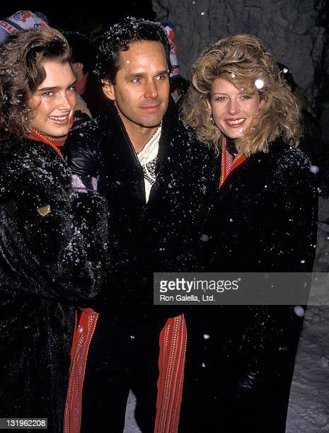 Actress Brooke Shields actor Gregory Harrison and secretary Fawn Hall attend Second Annual Pepsi Celebrity Ski Invitational and Quebec Winter...