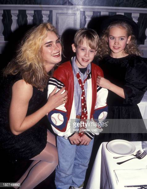 Actress Brooke Shields, actor Macaulay Culkin and model Laura Bundy attend the Ford Modeling Agency's Children's Divison Celebrates the Holiday...