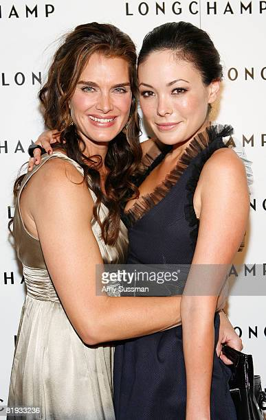 Actress Brooke Shields and actress Lindsay Price attend Longchamp's 60th Anniversary celebration at La Maison Unique Longchamp on July 14 2008 in New...