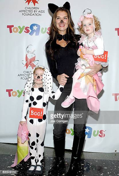 Actress Brooke Shields and daughers Rowan Frances Henchy and Grier Hammond Henchy attend the Dream Halloween fundraiser for Children Affected By AIDS...