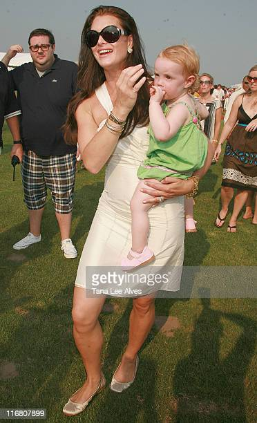 Actress Brooke Shields and daughter Grier Henchy visits the Mercedes Benz Polo Challenge at the Bridgehampton Polo Club August 4, 2007 in Water Mill,...