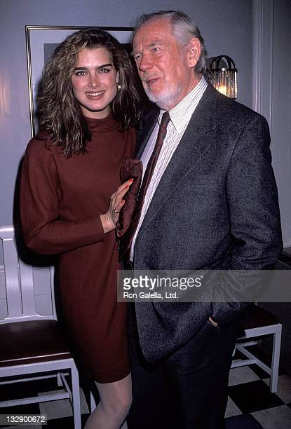 Actress Brooke Shields and filmmaker Sven Nykvist attend the Cocktail Reception for Sven Nykvist's Oscar Nomination for Best Foreign Language Film...