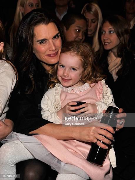 Actress Brooke Shields and her daughter Rowan Henchy attend the Saks Fifth Avenue light show spectacle 'The Snowflake and the Bubble' and Holiday...