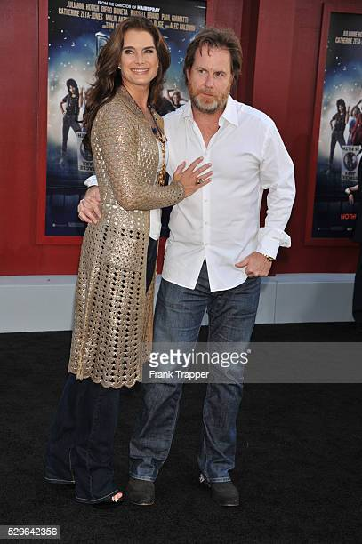 Actress Brooke Shields and husband producer Chris Henchy arrive at the world premiere of Rock of Ages held at Grauman's Chinese Theater in Hollywood