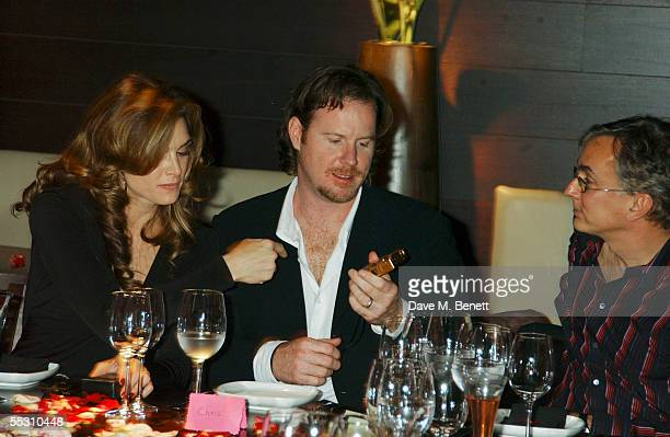 Actress Brooke Shields and husband, writer Chris Henchy, attend Shields's 40th birthday celebration at the Mint Leaf restaurant in London's Haymarket...