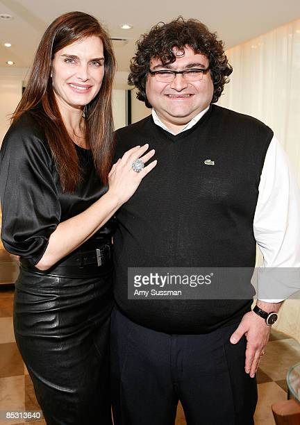 Actress Brooke Shields and jewelry designer Sevan attend the Sevan luncheon at Barneys New York on March 9 2009 in New York City