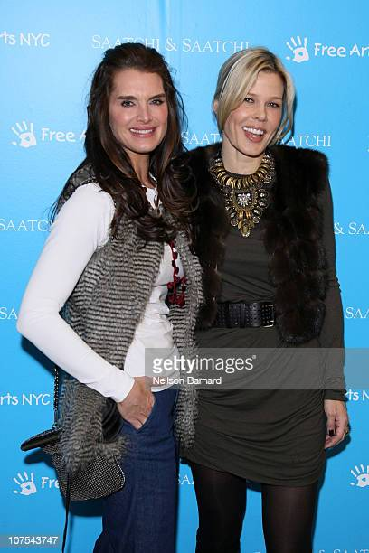Actress Brooke Shields and Mary Alice Stephenson attend the Free Arts NYC's Kidsfest 2010 at Saatchi Saatchi on December 12 2010 in New York City
