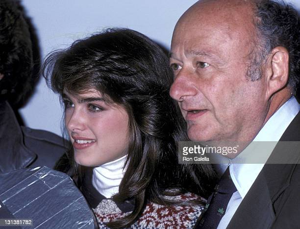 Actress Brooke Shields and Mayor Ed Koch attend the 'Skaters for Koch '81' Roller Skating Party to Honor Mayor Ed Koch on October 20 1981 at The Roxy...
