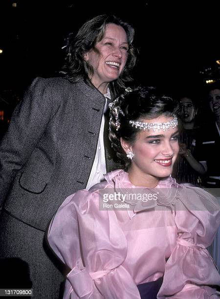 Actress Brooke Shields and mother Teri Shields attend the Press Party to Announce Brooke Shields at the Newest Spokesperson for Wella Corporation on...