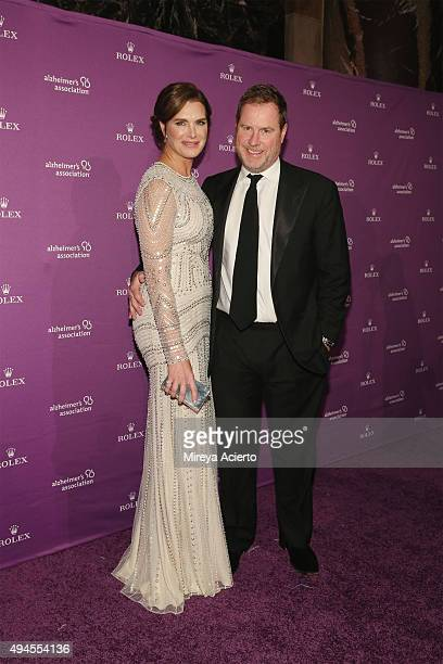 Actress Brooke Shields and screenwriter Chris Henchy attend the Alzheimer's Association 32nd Annual Rita Hayworth Gala at Cipriani 42nd Street on...