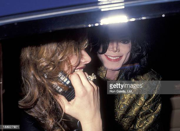 Actress Brooke Shields and singer Michael Jackson attend the 35th Annual Grammy Awards After Party Hosted by Sony Records on February 24 1993 at...