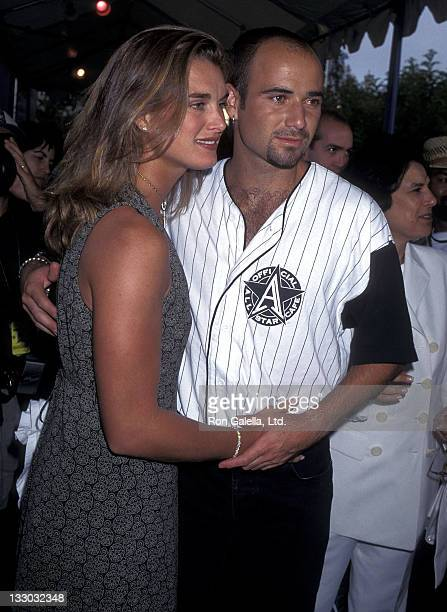Actress Brooke Shields and tennis player Andre Agassi attend 'An Evening at the Net' Tennis Tournament and Cocktail Reception to Benefit the...