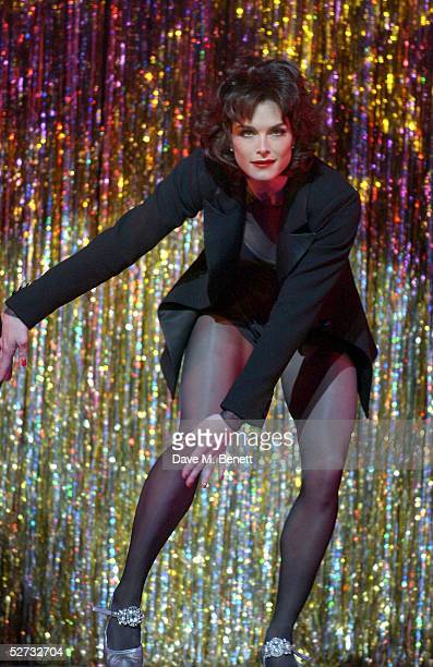 "Actress Brooke Shields appears on stage for her first night playing Roxie Hart in the west end show ""Chicago - The Muscial"" at the Adelphi Theatre on..."