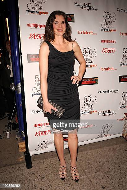 Actress Brooke Shields arrives at the 55th Annual Drama Desk Awards at the FH LaGuardia Concert Hall at Lincoln Center on May 23 2010 in New York City