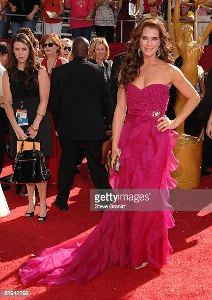 Actress Brooke Shields arrives at the 60th Primetime Emmy Awards at the Nokia Theater on September 21 2008 in Los Angeles California